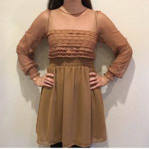 Free People Lace ruffle dress